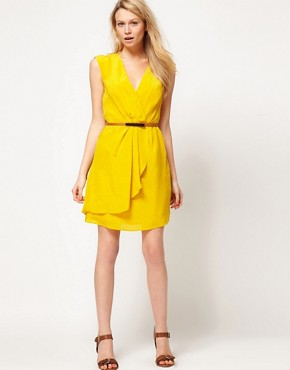 Image 4 ofOasis Silk V Neck Dress