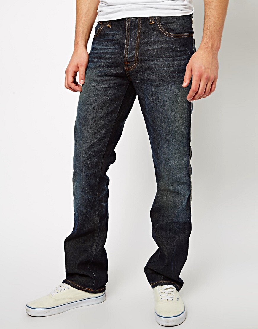 Image 1 of Nudie Jeans Slim Jim Straight Fit Winter Shades Wash