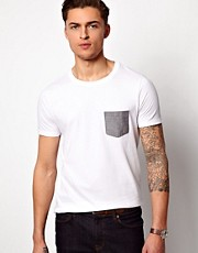 ASOS T-Shirt With Oxford Pocket