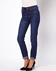 ASOS Marney Straight Leg Jeans In Dark Wash