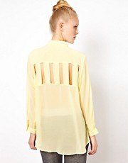 Pippa Lynn Cut Out Back Oversize Shirt