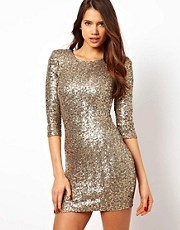 TFNC Sequin Body-Conscious Dress