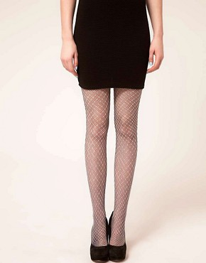 Image 1 ofHouse of Holland For Pretty Polly Layered Fishnet Tights