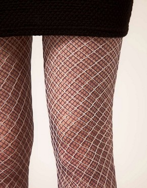 Image 2 ofHouse of Holland For Pretty Polly Layered Fishnet Tights