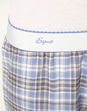 Image 3 of Esprit Nordic Check Long PJ Pant