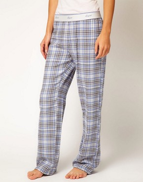 Image 4 of Esprit Nordic Check Long PJ Pant