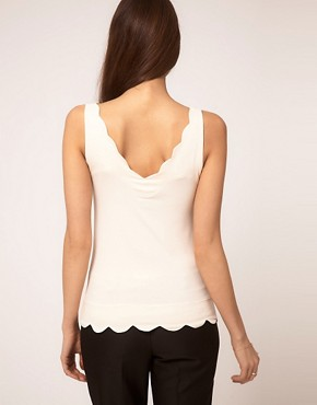 Image 2 of ASOS Tank with Scallop Edge