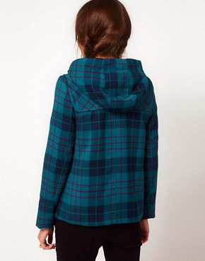 Image 2 ofb + ab Check Duffle Coat