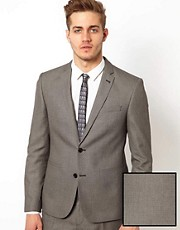ASOS Slim Fit Suit Jacket in Birdseye