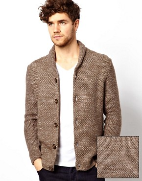 Image 1 ofASOS Textured Shawl Cardigan