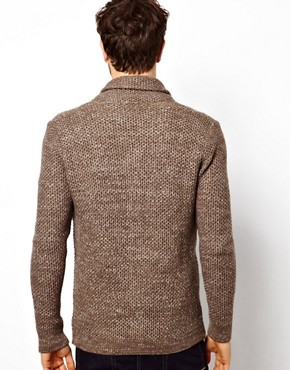 Image 2 ofASOS Textured Shawl Cardigan