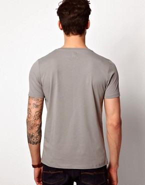 Image 2 ofASOS T-Shirt With Oxford Pocket