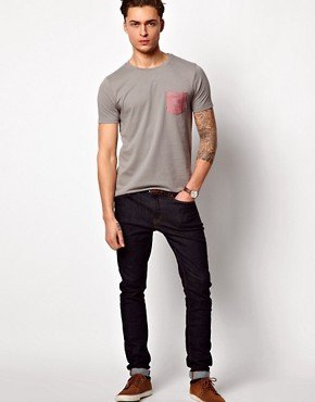 Image 4 ofASOS T-Shirt With Oxford Pocket