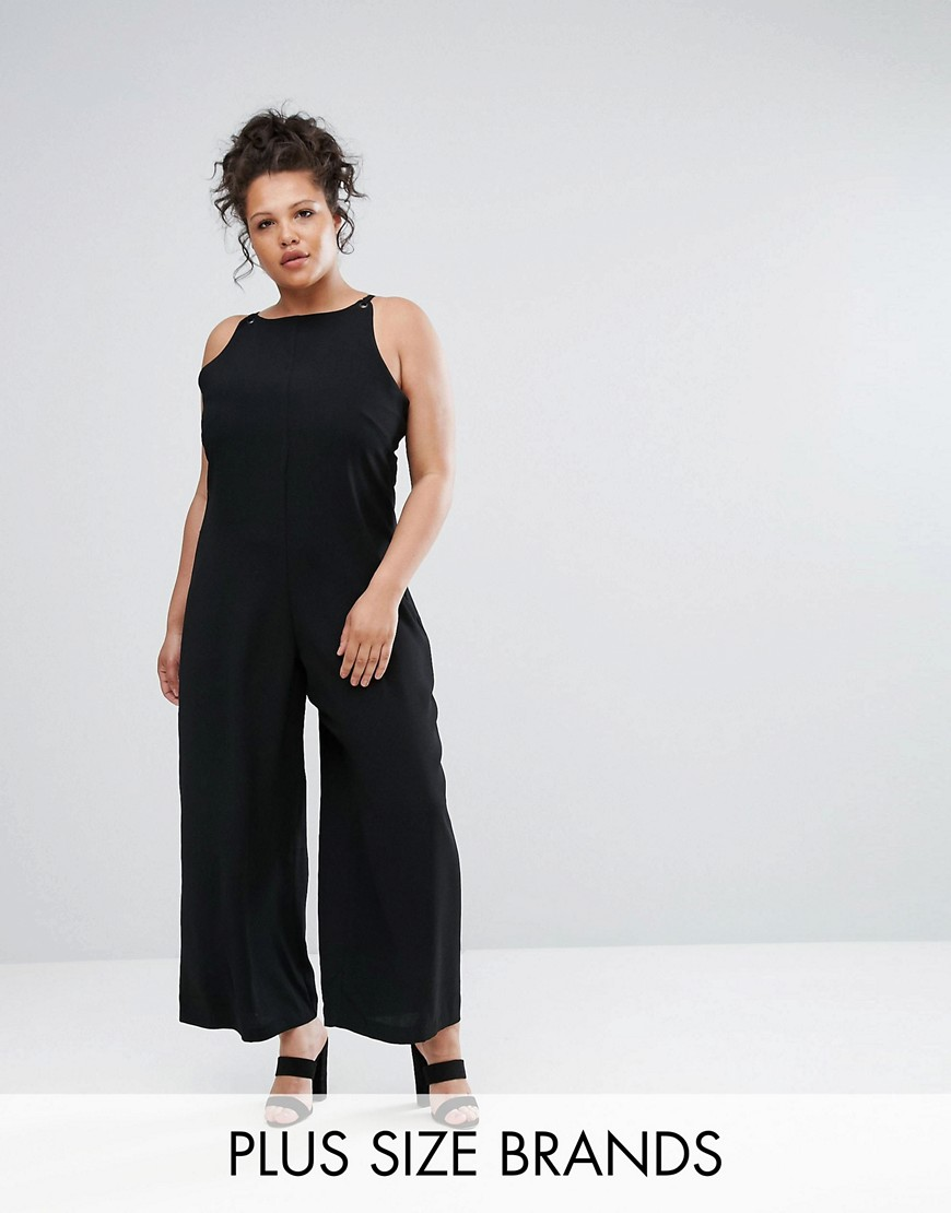 Elvi Relaxed Jumpsuit - Black