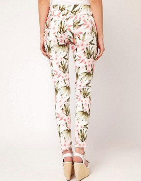 Image 2 ofOasis Tropical Print Jeans
