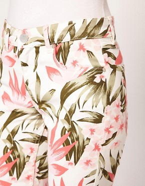 Image 3 ofOasis Tropical Print Jeans