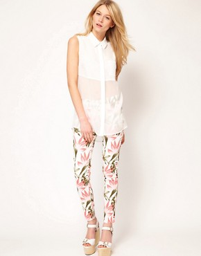 Image 4 ofOasis Tropical Print Jeans