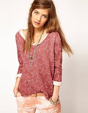 Maison Scotch Oversized Sweatshirt in Star Print