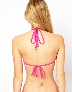 Image 2 ofTed Baker Wild Horses Triangle Bikini Top With Removable Cookies