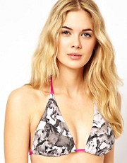 Ted Baker Wild Horses Triangle Bikini Top With Removable Cookies