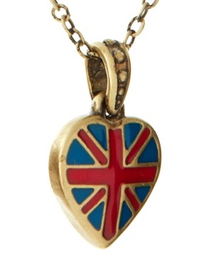 Image 4 ofCath Kidston Antique Brass Tiny Union Jack Heart Pendant Necklace