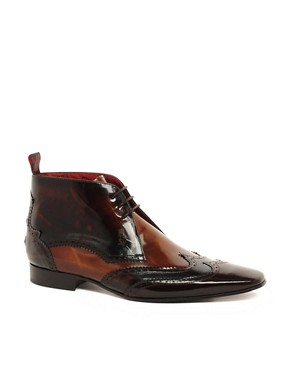 Image 1 ofJeffery West Mixed Brogue Short Boots