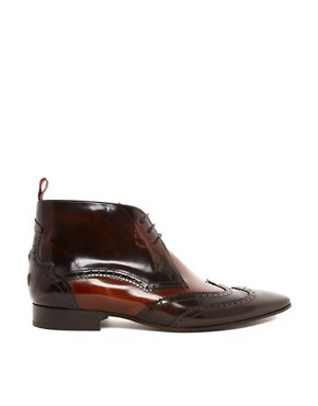 Image 4 ofJeffery West Mixed Brogue Short Boots