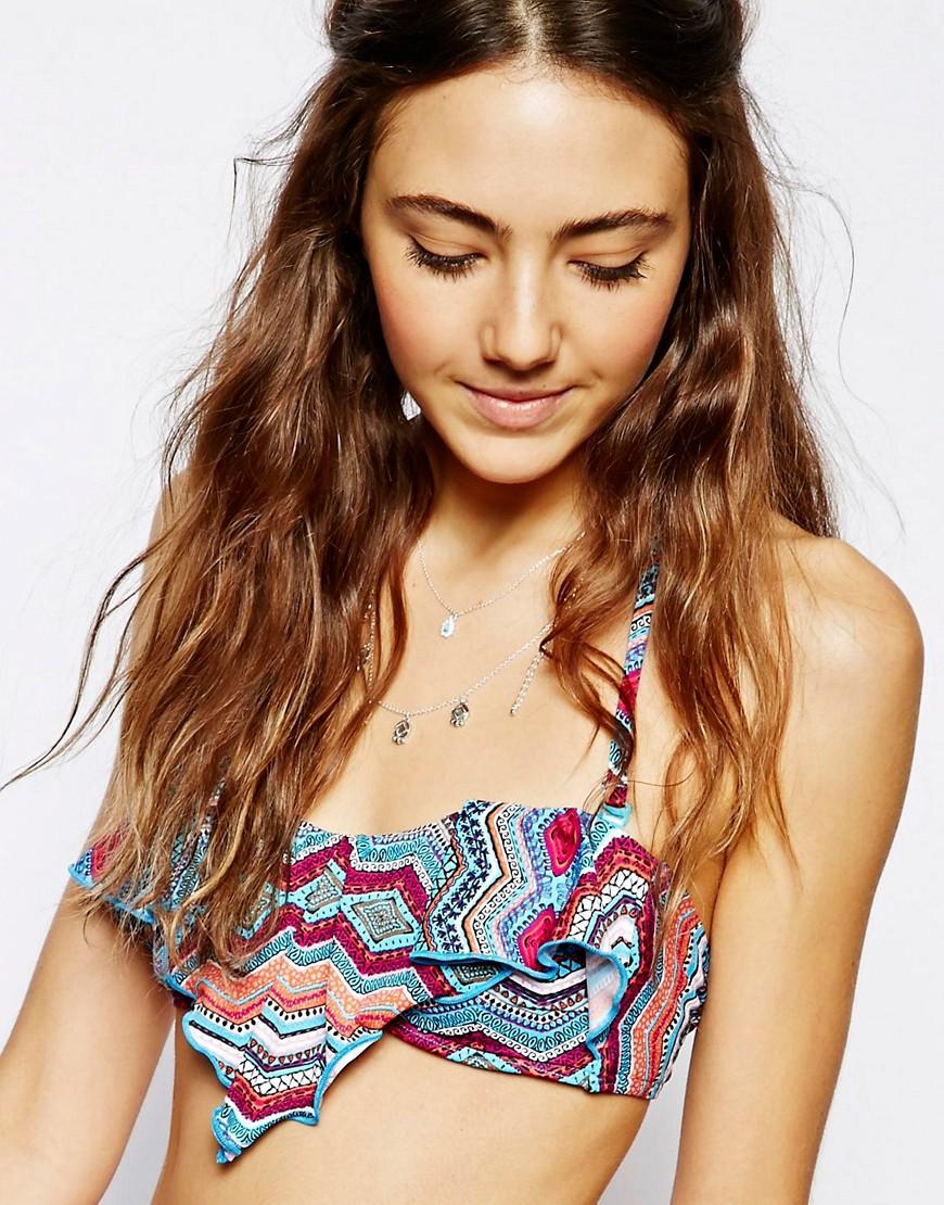 Ginja By Baku Inka Love Of Life Handkerchief Bra Bikini Top - Multi