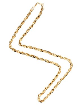 Image 2 ofSusan Caplan Exclusive For ASOS Vintage 70s Snake Chain Necklace