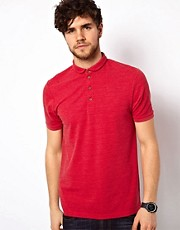 ASOS Polo With Curved Collar