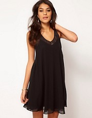 ASOS Swing Dress With Lace Trim