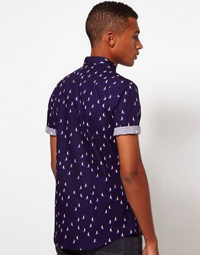 Image 2 ofASOS Shirt With Sailing Boat Print