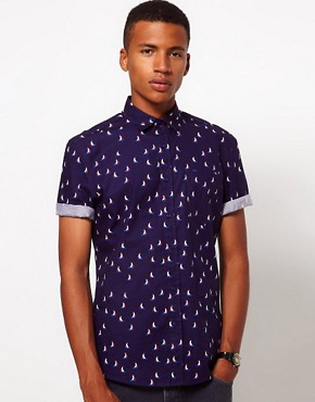 Image 1 ofASOS Shirt With Sailing Boat Print