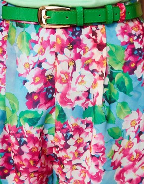Image 3 ofRare Large Floral Belted Shorts