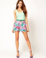 Rare Large Floral Belted Shorts