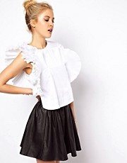 ASOS Shell Top with Exaggerated Ruffle