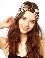 River Island Leopard Turban Head Band