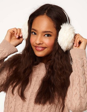 Image 1 of ASOS Faux Shearling Earmuffs
