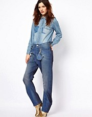 Vivienne Westwood Anglomania For Lee Rodeo Jean In Contrast Wash