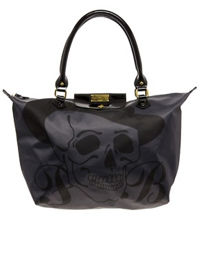 Image 1 ofPaul s Boutique Betty Black Skull Zip Top Shopper Exclusive To ASOS