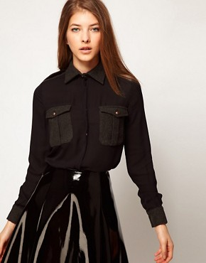 Image 1 ofKore by Sophia Kokosalaki Wool Collar Shirt
