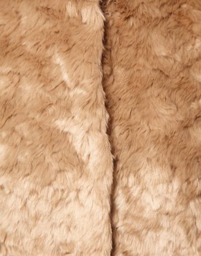 Image 3 ofWarehouse Block Faux Fur Coat