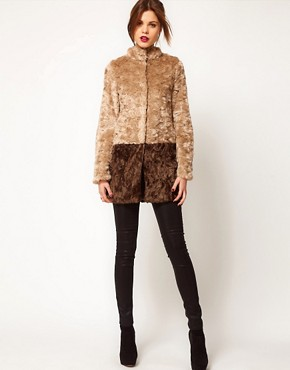 Image 4 ofWarehouse Block Faux Fur Coat