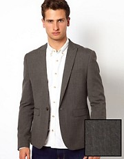 ASOS Slim Fit Suit Jacket in Fleck Fabric
