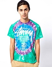 Stussy  World Tour  Batik-T-Shirt