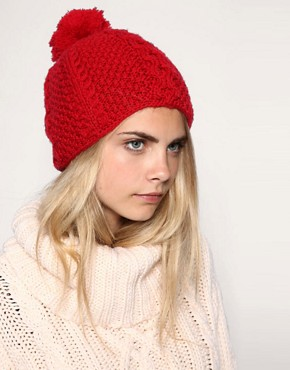 Image 1 ofLowie Chunky Merino Pom Beanie