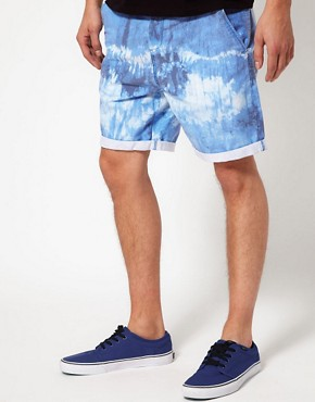 Image 1 ofASOS Chino Shorts With Tie Dye