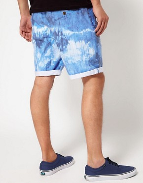Image 2 ofASOS Chino Shorts With Tie Dye