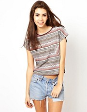 Bellfield Printed Crop T-Shirt