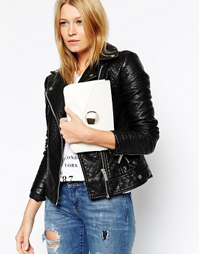 ASOS Clutch Bag With Oversized Stud